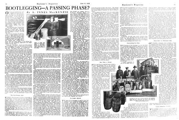 Article Preview: BOOTLEGGING—A PASSING PHASE?, June 1922 | Maclean's