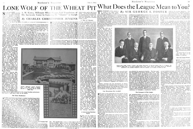 Article Preview: What Does the League Mean to You?, July 1st, 1922 1922 | Maclean's