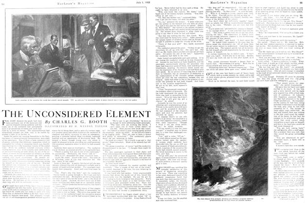 Article Preview: THE UNCONSIDERED ELEMENT, July 1st, 1922 1922   Maclean's