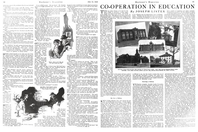 Article Preview: CO-OPERATION IN EDUCATION, JULY 15TH 1922 1922 | Maclean's