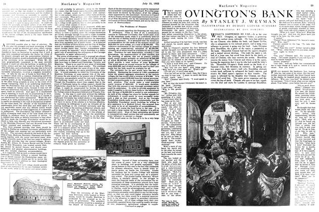Article Preview: OVINGTON'S BANK, JULY 15TH 1922 1922 | Maclean's