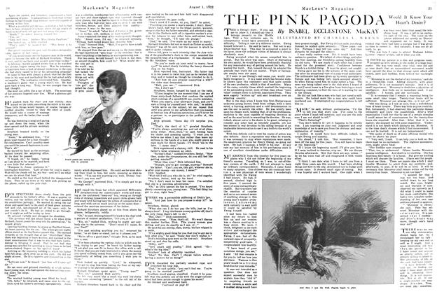 Article Preview: THE PINK PAGODA, August 1922 | Maclean's