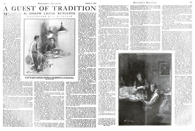 Article Preview: A GUEST OF TRADITION, August 1922 | Maclean's