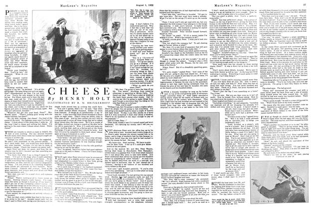 Article Preview: CHEESE, August 1922 | Maclean's