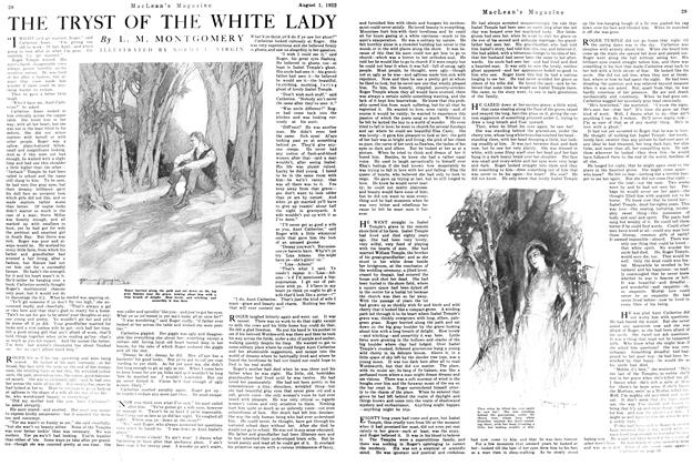 Article Preview: THE TRYST OF THE WHITE LADY, August 1922 | Maclean's