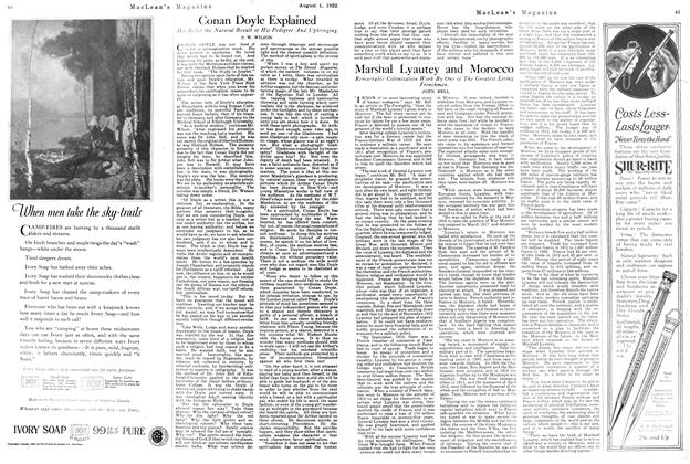 Article Preview: Conan Doyle Explained, August 1922 | Maclean's