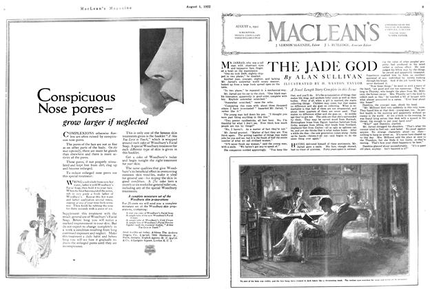 Article Preview: THE JADE GOD, August 1922 | Maclean's