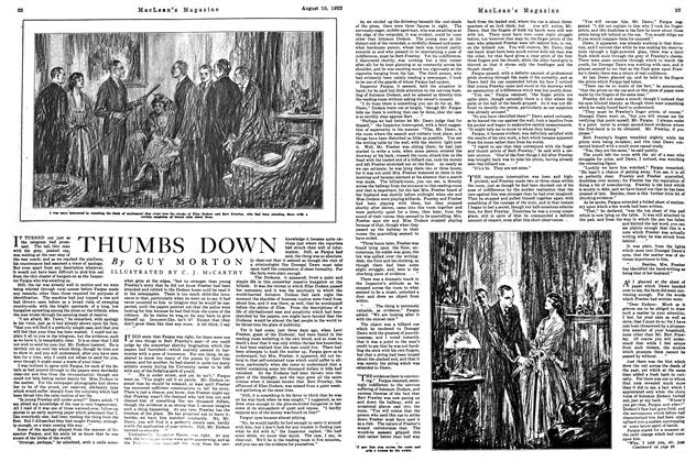 Article Preview: THUMBS DOWN, August 1922 | Maclean's