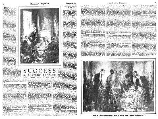Article Preview: SUCCESS, September 1st 1922 1922 | Maclean's