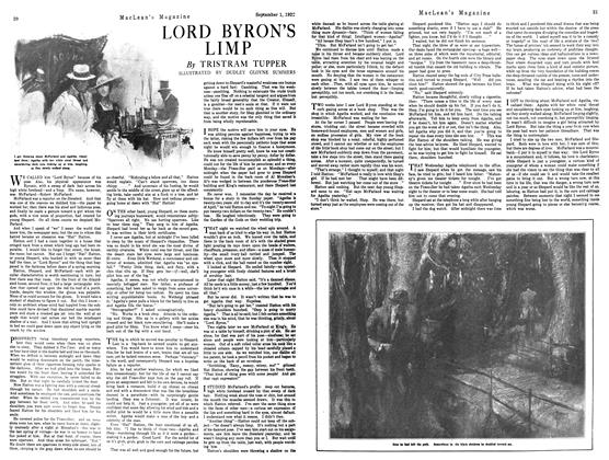 Article Preview: LORD BYRON'S LIMP, September 1st 1922 1922 | Maclean's