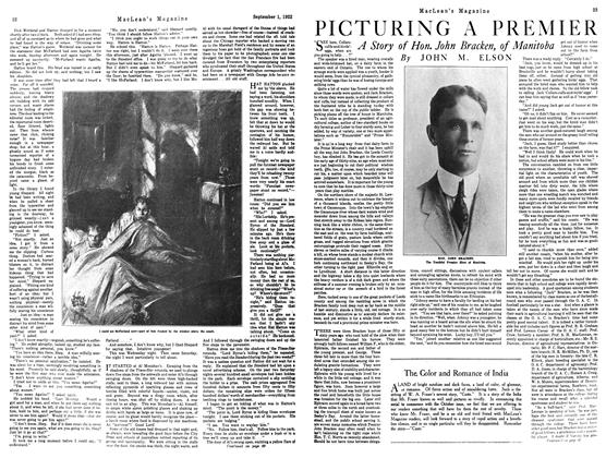 Article Preview: PICTURING A PREMIER, September 1st 1922 1922 | Maclean's