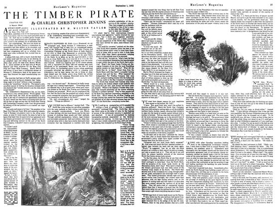 Article Preview: THE TIMBER PIRATE, September 1st 1922 1922 | Maclean's