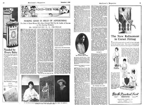 Article Preview: MAKING GOOD IN FIELD OF ADVERTISING, September 1st 1922 1922 | Maclean's