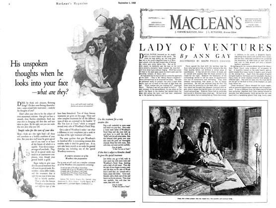 Article Preview: LADY OF VENTURES, September 1st 1922 1922 | Maclean's