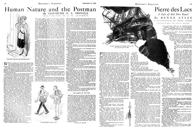 Article Preview: Pierre des Lacs, September 15th, 1922 1922 | Maclean's