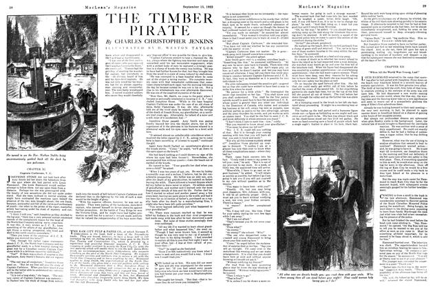 Article Preview: THE TIMBER PIRATE, September 15th, 1922 1922 | Maclean's