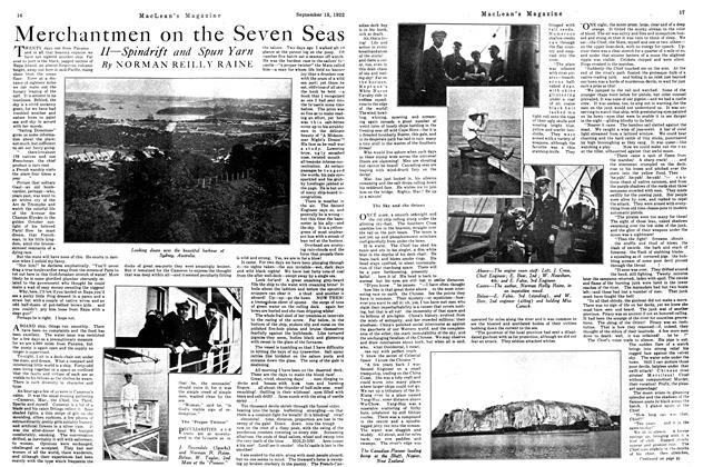 Article Preview: Merchantmen on the Seven Seas, September 15th, 1922 1922 | Maclean's