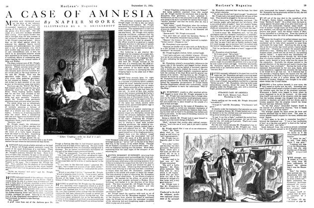 Article Preview: A CASE OF AMNESIA, September 15th, 1922 1922 | Maclean's