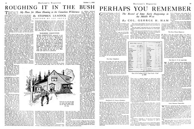 Article Preview: ROUGHING IT IN THE BUSH, OCTOBER 1ST 1922 1922 | Maclean's