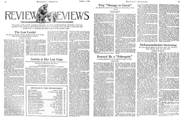 """Article Preview: Pestered By a """"Poltergeist"""", OCTOBER 1ST 1922 1922 
