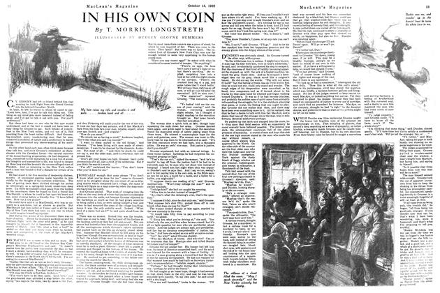 Article Preview: IN HIS OWN COIN, October 1922   Maclean's