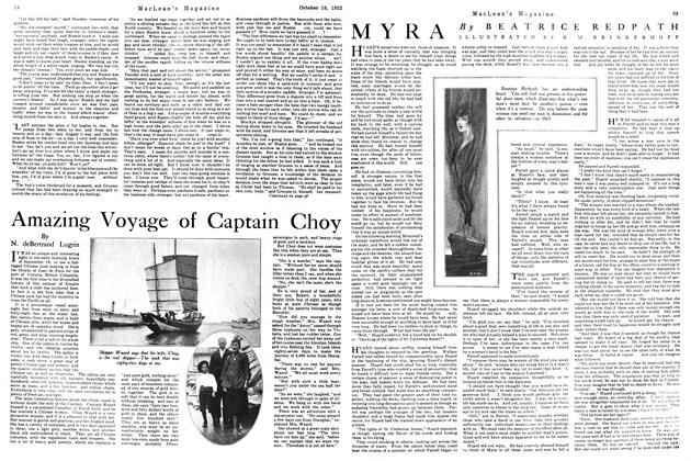 Article Preview: Amazing Voyage of Captain Choy, October 1922 | Maclean's