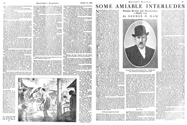 Article Preview: SOME AMIABLE INTERLUDES, October 1922 | Maclean's
