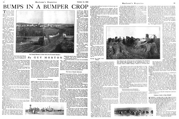 Article Preview: BUMPS IN A BUMPER CROP, October 1922 | Maclean's