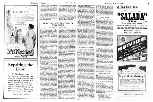 Article Preview: STARVING AND WRITING IN NEW YORK, October 1922 | Maclean's