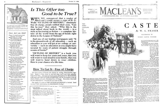 Article Preview: CASTE, October 1922 | Maclean's