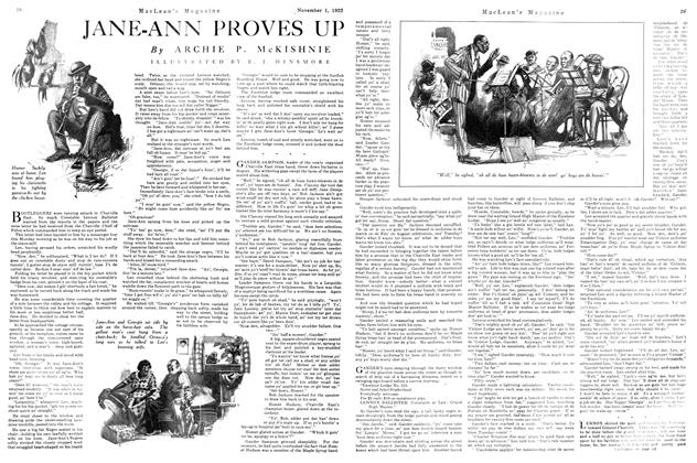 Article Preview: JANE-ANN PROVES UP, November 1st, 1922 1922 | Maclean's
