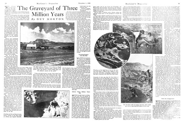 Article Preview: The Graveyard of Three Million Years, November 1st, 1922 1922 | Maclean's
