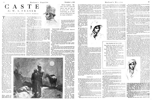 Article Preview: CASTE, November 1st, 1922 1922 | Maclean's