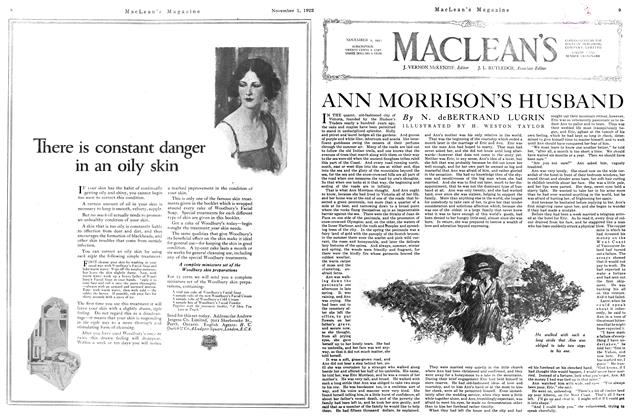Article Preview: ANN MORRISON'S HUSBAND, November 1st, 1922 1922 | Maclean's