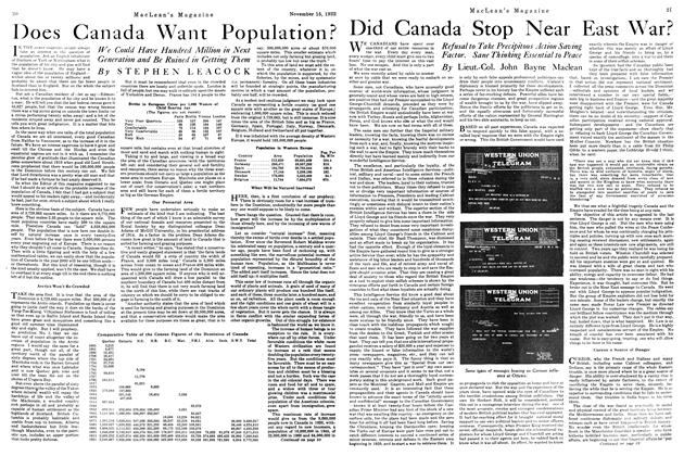 Article Preview: Did Canada Stop Near East War?, November 1922 | Maclean's