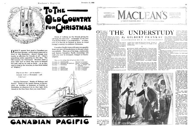 Article Preview: THE UNDERSTUDY, November 1922 | Maclean's