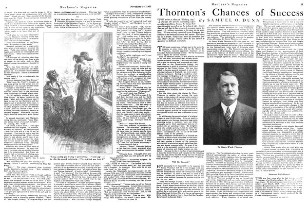 Article Preview: Thornton's Chances of Success, November 1922 | Maclean's