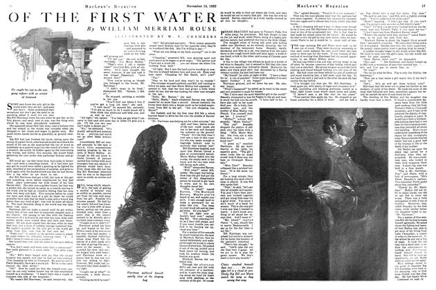 Article Preview: OF THE FIRST WATER, November 1922 | Maclean's