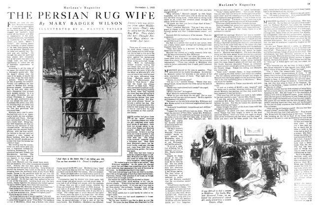 Article Preview: THE PERSIAN RUG WIFE, December 1st 1922 1922 | Maclean's