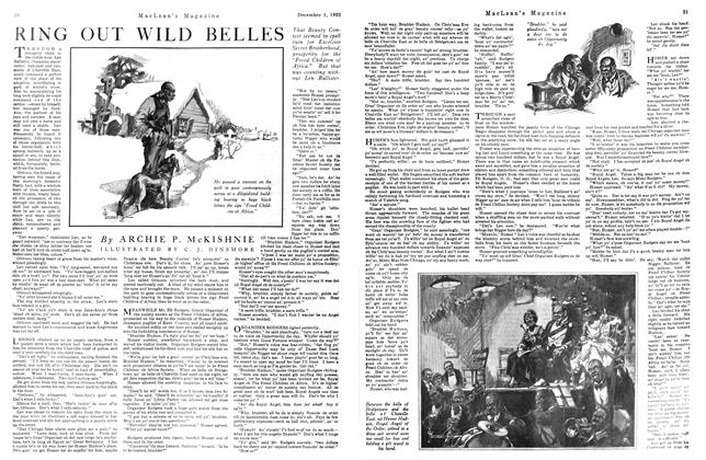 Article Preview: RING OUT WILD BELLES, December 1st 1922 1922 | Maclean's
