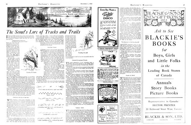 Article Preview: The Scout's Lore of Tracks and Trails, December 1st 1922 1922 | Maclean's