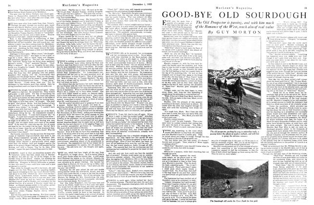 Article Preview: GOOD-BYE OLD SOURDOUGH, December 1st 1922 1922 | Maclean's