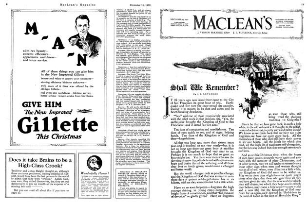 Article Preview: Shall We Remember?, December 15th 1922 1922 | Maclean's