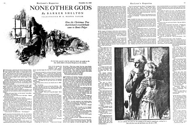 Article Preview: NONE OTHER GODS, December 15th 1922 1922 | Maclean's