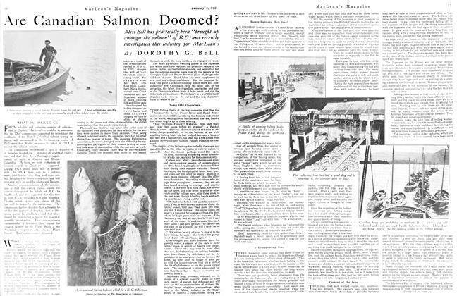 Article Preview: Are Canadian Salmon Doomed?, January 1923 | Maclean's