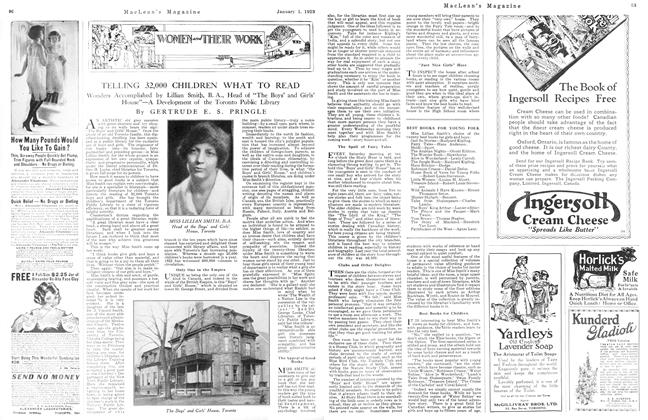 Article Preview: TELLING 32,000 CHILDREN WHAT TO READ, January 1923 | Maclean's