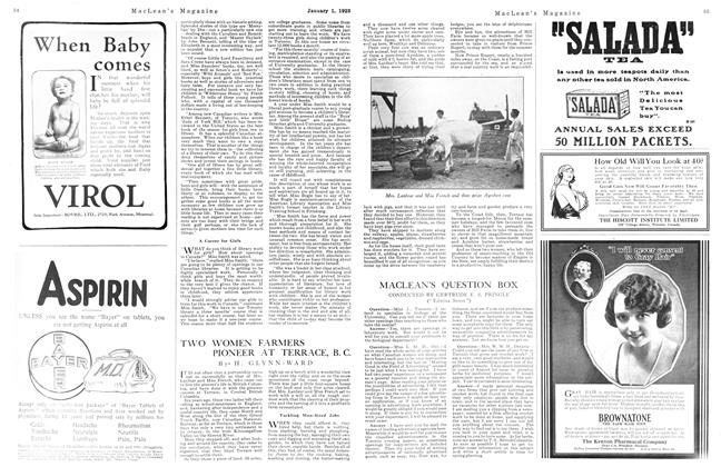 Article Preview: MACLEAN'S QUESTION BOX, January 1923 | Maclean's