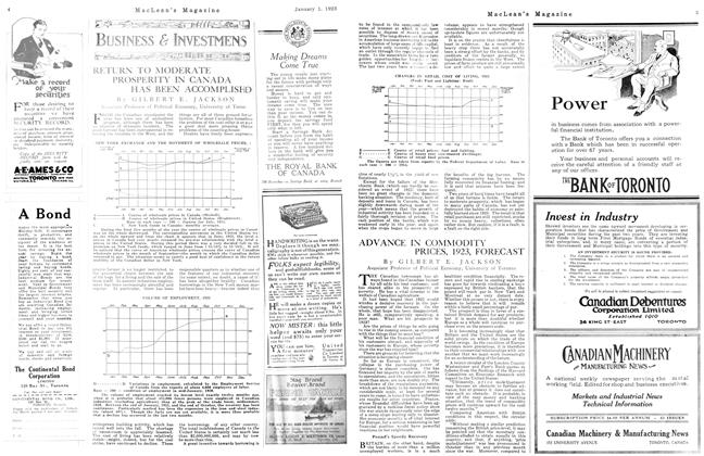 Article Preview: ADVANCE IN COMMODITY PRICES, 1923, FORECAST, January 1923   Maclean's