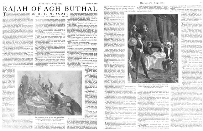 Article Preview: RAJAH OF AGH BUTHAL, January 1923 | Maclean's