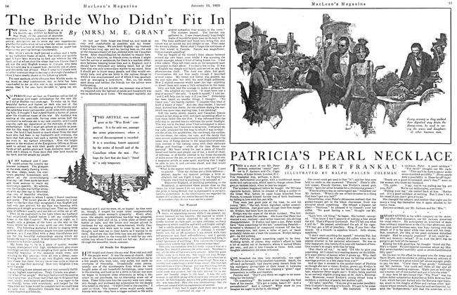 Article Preview: PATRICIA'S PEARL NECKLACE, January 1923 | Maclean's